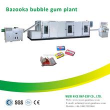 New condition advanced automatic bazooka bubble gum making machine for bubble gum with tattoo