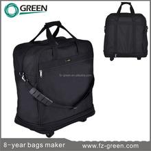 Polyester foldable travel bag on wheels