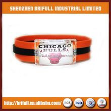 World cup button control led rubber bracelet for basketball game
