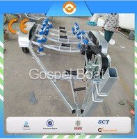 6.2M dual axle hydraulic aluminum boat trailer for sale