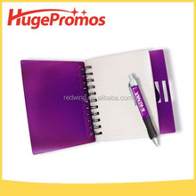 Pattern Logo Print Notebook with Pen
