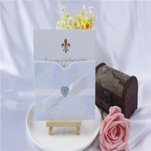 Hot sale fancy and cute flower like hexagon wedding invitation card