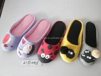New models women's slippers lovely print face design's scuff slippers
