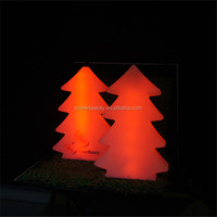 LED lighted up color changing plastic christmas illuminated tree with remote control