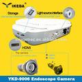 Armazenamento de imagens, duplo telas lcd, fonte de luz led& alta definição integrado portátil endoscópios