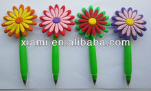 silicone rubber sunflower pen for promotional