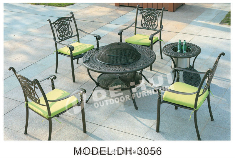 Cast Aluminum Cast Outdoor Leisure Furniture Table And Chair Set Home Garden Furniture Patio