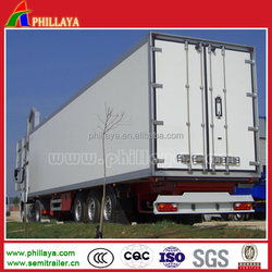 3 axle refrigerated van cargo semi trailer, large volume refrigerated cargo trailer