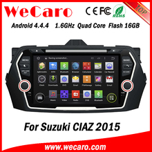 """Wecaro WC-SC8075 8"""" Android 4.4.4 WIFI 3G touch screen car dvd player for suzuki ciaz 2015"""