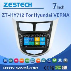 DVD fm radios audio Mp3 player car parts For Hyundai VERNA Accent support BT 3G DVR SWC OBD