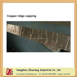 Copper asphalt shingle ridge capping factory