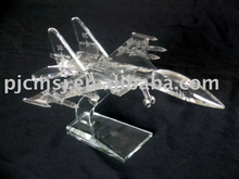 2015 Crystal aircraft model,glass airplane model,crystal airplan arnaments