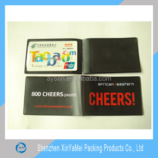 Professional Manufactory PVC Plastic Folding Business Card Holder in Shenzhen