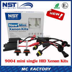Newest 9004 mini single Xenon HID Kit slim digital ballast HID kit