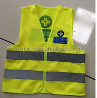 high light comfortable leather reflective safety vest hot sale