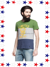 2015 Hot Selling Multi Colored T Shirts Three Colors ,Color Combination Mens T shirt Day Man T Shirt For Sale