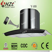 2015 Best sell product wall mounted range hood with three speed