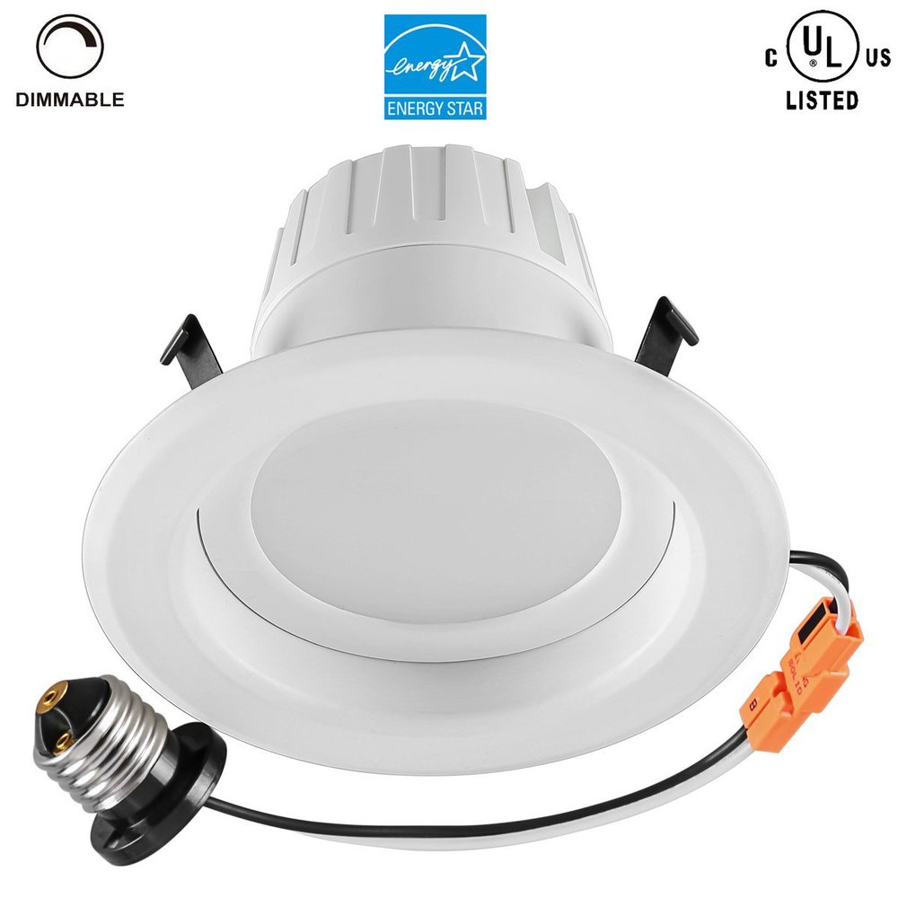 retrofit can led recessed light e26 dimmable bulb downlight fixture. Black Bedroom Furniture Sets. Home Design Ideas