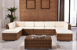 Outdoor wicker furniture contemporary corner sofa bed with storage