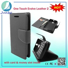 High quality fancy flip mobile phone cover cases for alcatel one touch