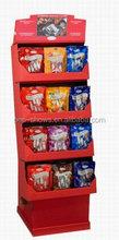 pop trapeziform cardboard pallet display for retail store promotion