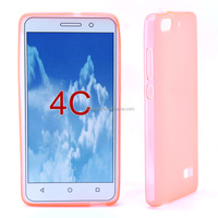 clear TPU phone case for huawei honor 4C transparent color wholesaler