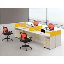OEM custom modern furniture partition type office workstation for 4 people