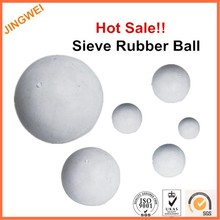 25mm rubber bouncing balls,Vibrating Screen Seive cleaning White Solid Rubber Ball,transparent rubber ball