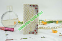 Modest Luxury Snakeskin Pattern Diamond Leather Case Cover for iPhone5 With Card Slots(White)