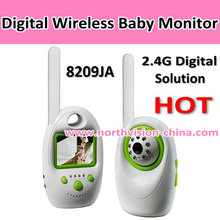 2.4g digital baby monitor with motion detection and voice controlling, IR LED