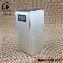 New model electronic cigarette hammer of god box mod from kepler factory