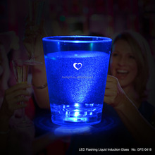 For the take a single party LED liquid induction active glass blue light 60ml volume plastic wine glass