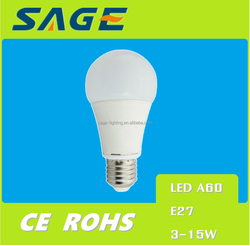 A60 9W LED Lamp E27 Bulb White Light Led Bulb for Home Use