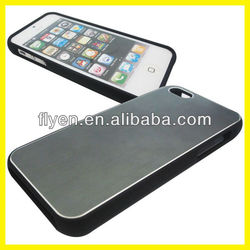 2013 Hot Selling Plain Case for iphone 5 Aluminum Metal Structure 2-in-1 Manufacturer Wholesale