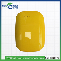 mobile accessories hot selling hand warmer portable power 4 led indicators colorful 7800mah portable power bank for laptop