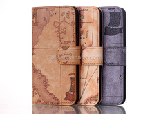 leather cover for iPhone 6 with map pattern, fashion and unique