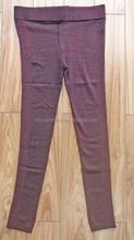 woman fashion trousers spun rayon nylon lurex jersey knitted pants