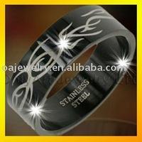 good quality titanium &316l steel black metal jewellery