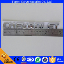 ABS Chrome Car Logo 3D Rear Emblem Tail Badge Sticker