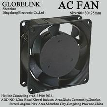 AC fan 8025 60mm RoHS AC Cooler Fan 80*80*25mm 220V/110V Dual Ball Bearing Low Noise AC Fan