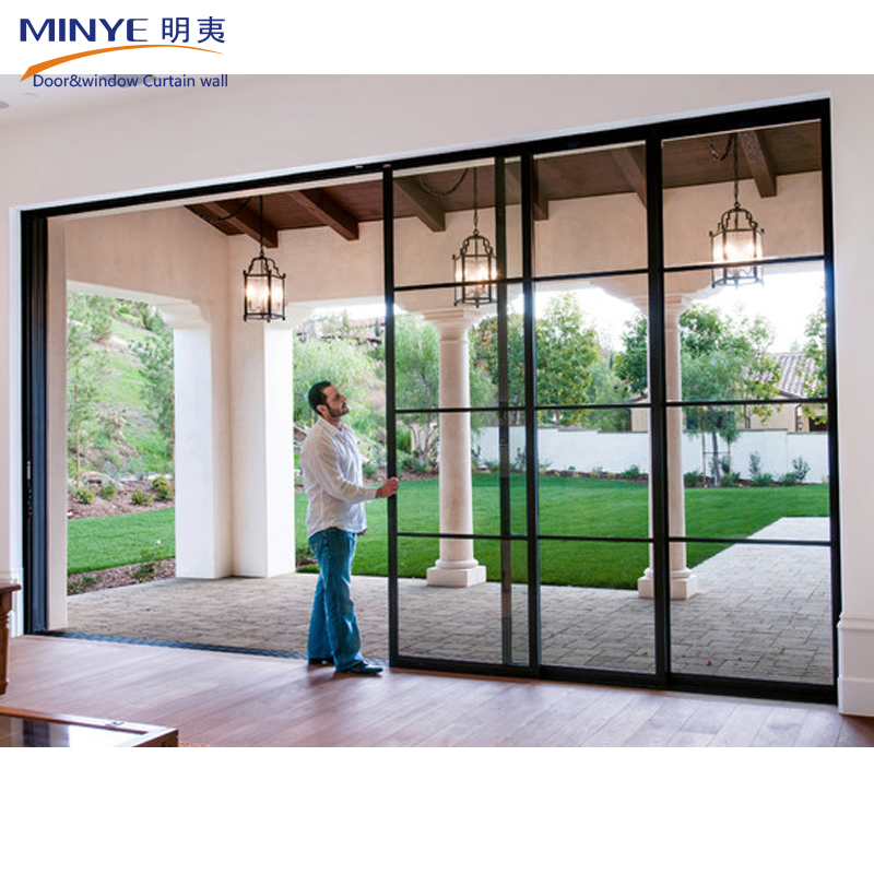 china supplier reflective stacking sliding glass doors wood frame sliding door hot sale buy. Black Bedroom Furniture Sets. Home Design Ideas
