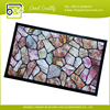 Stone patern welcome padded pvc modern pvc carpet protection mat