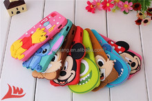 For iphone 5 5g 5s cases cartoon 3d mickey minnie mouse squirrel sulley mike stitch Big head rubber silicone cell phone covers