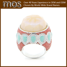 Mutual color big stone fashion jewelry rings for model