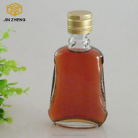 newly shape liquor packing glass bottle manufacturer in china 125ml