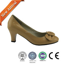 fashion women shoe/comfort high heel women leather shoes/shoes factory china