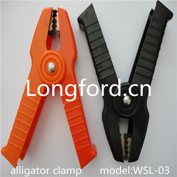 LFT auto PVC with carton steel insulated battery alligator clip / battery clamp