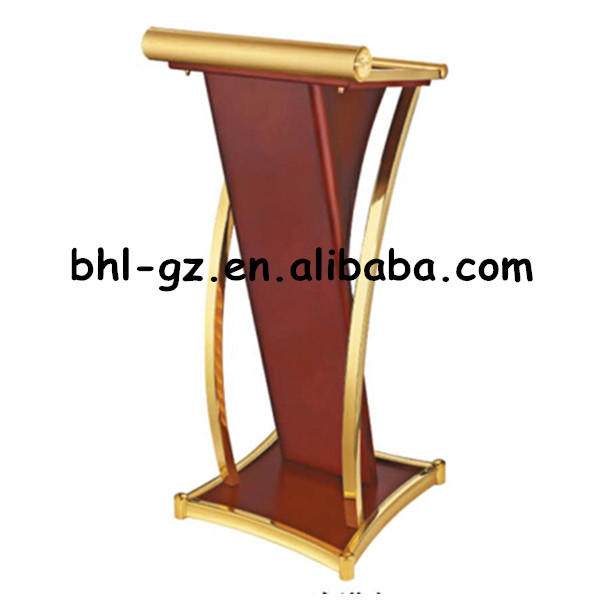 Wholesale Guangzhou Hotel Furniture Suppliers Wholesalers Wooden Podium Wood Lectern Speech