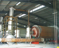 plastic convert oil machine pyrolysis tire oil, used oil, crude petroleum oil refineries