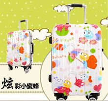 three birds factory supply luggage new design unique colorful leisure car roof wheel for suitcase for travel,business,school